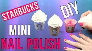 diy crafts diy starbucks mini nail polish miniature cotton candy