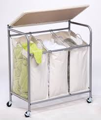 rolling laundry cart with ironing board and vinyl basket made of
