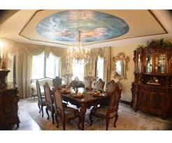 Italian Dining Tables And Chairs Antique Italian Dining Room Set With Table Chairs Buffet Sets