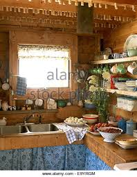 Wooden Country Kitchen - country kitchen stock photos u0026 country kitchen stock images alamy