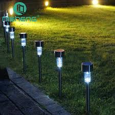 small solar lights outdoor nieneng solar lawn lights outdoor fence waterproof lighting led plug