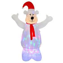Large Polar Bear Christmas Decorations by Light Up Polar Bear Christmas Decoration Home Decorations