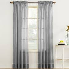 Crushed Sheer Voile Curtains by Erica Crushed Sheer Voile Curtain Panel In Gray Altmeyer U0027s