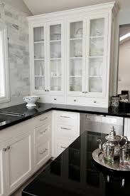 1000 Ideas About Black Granite Countertops On Pinterest by Nice Use Of Marble Subway Tile With White Cabinets These Are