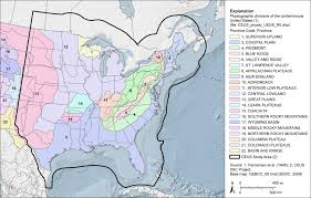 Physiographic Map Of The United States by Ceus Ssc Sheet A 14