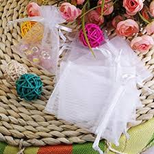 party favor bags 3x4 white organza wedding party favor bags package of