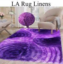 Fuzzy Purple Rug Polyester Circles Modern Area Rugs Ebay
