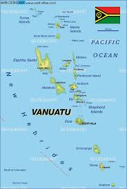 South Pacific Map Map Of Vanuatu Map In The Atlas Of The World World Atlas