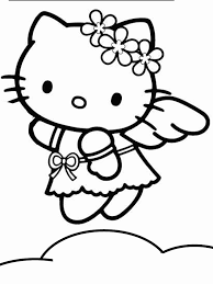 hello kitty free coloring pages on art coloring pages