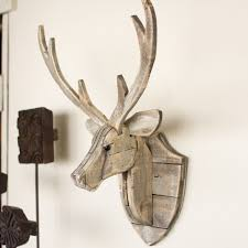 recycled wooden deer wall hanging shades of light