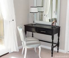 Black Vanity Table Livelovediy How To Fix A Spray Paint Disaster