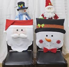 snowman chair covers 2018 christmas decorations christmas chair covers santa claus