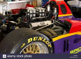 nissan group group c nissan engine the engine of a racing car stock photo