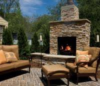 Outdoor Fieldstone Fireplace - patios and outdoor fireplaces stone center of va www