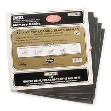 pioneer scrapbook refills pioneer memory scrapbook black refill 12 x 12