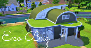 sims 4 house build eco bug futuristic starter youtube
