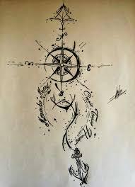 25 mooiste ideeën over anchor compass tattoo op pinterest