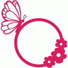 silhouette design store view design 58619 butterfly flower frame