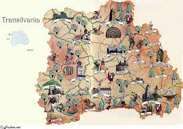touristic map of a touristic map of transylvania a great of work probably