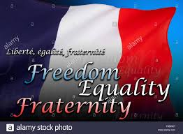 Flag Of Franc The National Flag Of France Freedom Equality Fraternity Stock