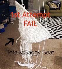 How To Make A Chair Hammock Diy Hanging Macramé Chair