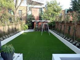 simple low maintenance backyard landscaping with grey clay make it