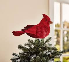 cardinal bird tree topper pottery barn