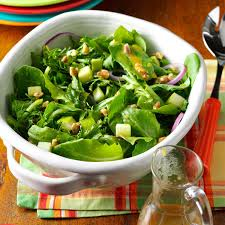 thanksgiving salad apple salad with maple mustard vinaigrette recipe taste of home