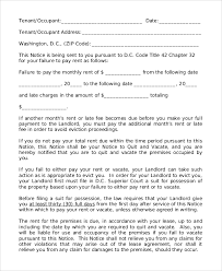 sample of 30 day eviction notice 7 examples in word pdf