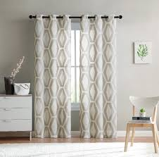 Embroidered Sheer Curtains Vcny Home Gabrielle Geometric Embroidered Sheer Curtains Set Of 2