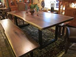 Living Edge Dining Table Walnut Live Edge Dining Table