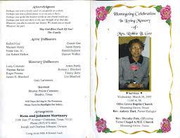 sle funeral programs wording burial ceremony program