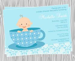 happy blue themed with baby shower invitations and blue background