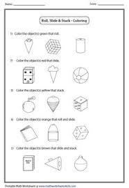 solid 3d shapes worksheets stuff to buy pinterest 3d shapes