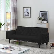 Nailhead Sleeper Sofa Modern Tufted Bonded Leather Sleeper Futon Sofa With Nailhead Trim