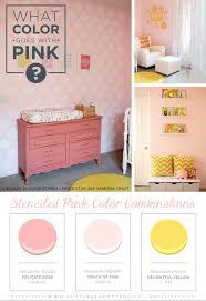 what goes with pink what color goes with pink stenciled pink color combinations