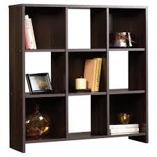 sauder black bookcase sauder beginnings cinnamon cherry 9 cubby storage organizer 413047