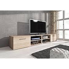 light wood tv stand tv unit cabinet stand vegas 240 cm light oak wood amazon co uk