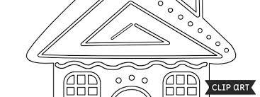 gingerbread house template u2013 clipart