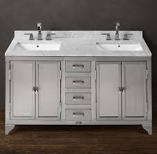 Dual Vanity Sink Bathroom Vanity With Stainless Steel Sink 20737 Bssbl Kuqgoc Www