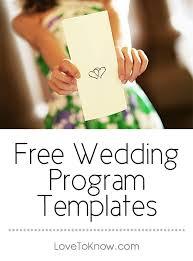 Inexpensive Wedding Programs The 25 Best Print Your Own Wedding Programs Ideas On Pinterest