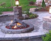 Fire Pit Lava Rock by Fire Pits Charlottesville Richmond Wooden Sun