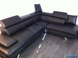 canapé simili cuir noir canapé d angle simili cuir noir annonce salon canapé