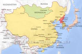 asain map east asia political map major tourist attractions maps in