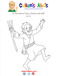 bible memory verse coloring sheet the lame man online