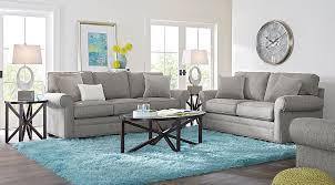 Affordable Living Room Sets Home Bellingham Gray 7 Pc Living Room 1655 0 Find