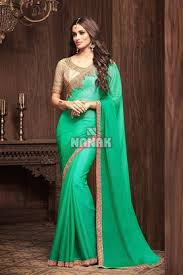 pista green color sunshine chiffon fabric saree for women sw 203 jpg
