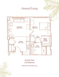 assisted living floor plans deerfield retirement community