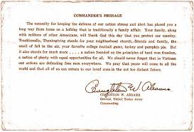 ubon rtafb thanksgiving day card and commander s message