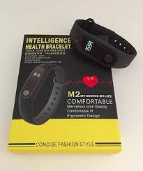 heart health bracelet images Black intelligent health bracelet m2 smart fitness band with heart jpg